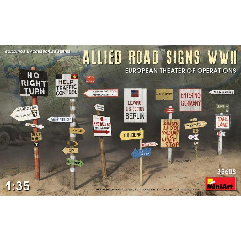 【新製品】35608 連合国軍道路標識WWII (ヨーロッパ作戦戦域)