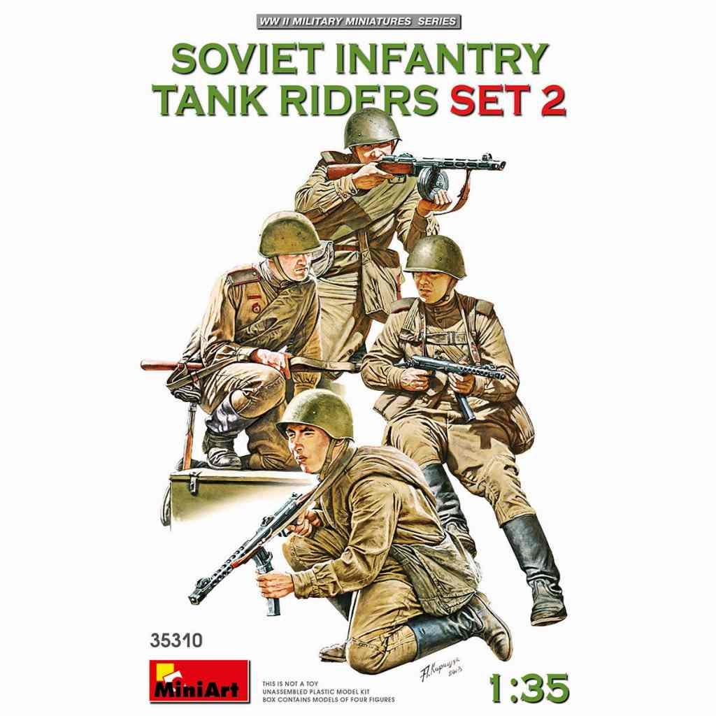 【新製品】35310 ソビエト歩兵戦車乗員セット2(4体入)