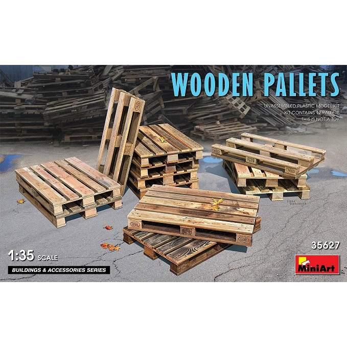 【新製品】35627 木製パレットセット(12枚入)