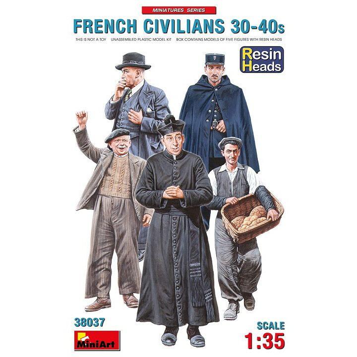 【新製品】38037 フランス市民30-40年代(頭部のみレジン製)5体入