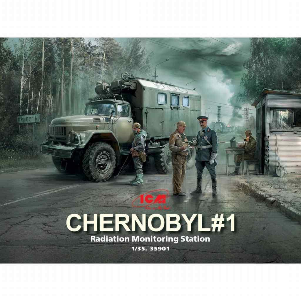 【新製品】35901 チェルノブイリ#1 放射線監視ステーション