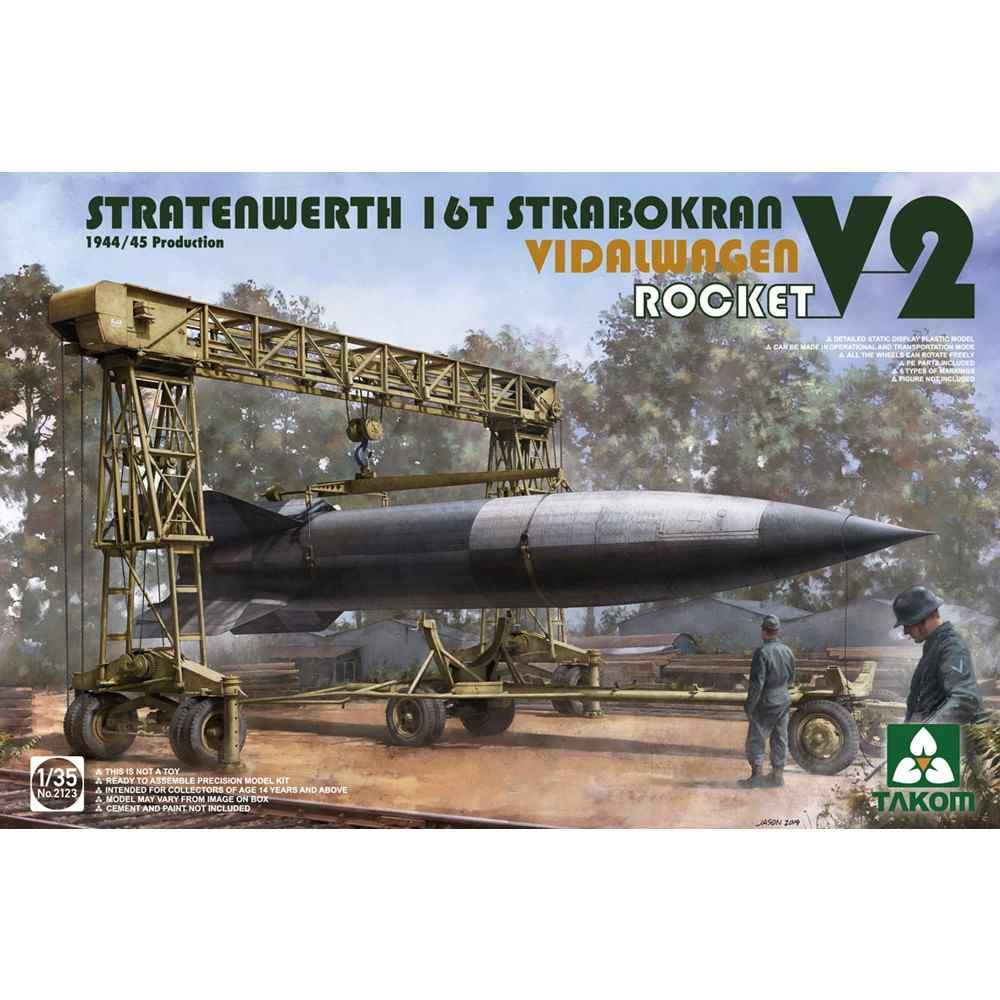 【新製品】2123 シュトラーテンヴェルト社 16t ガントリークレーンw/フィダルワーゲン &V2ロケット 1944/45年生産