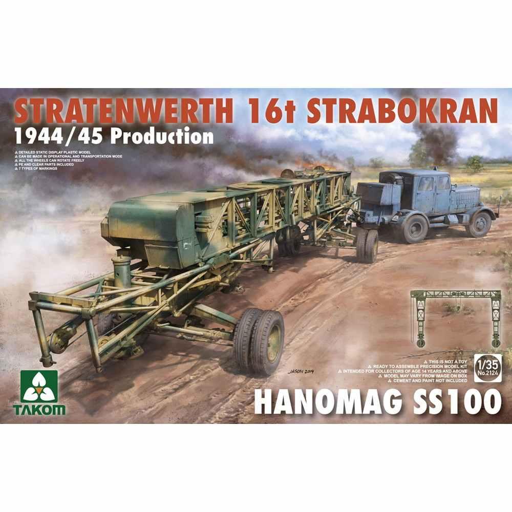 【新製品】2124 シュトラーテンヴェルト社 16tガントリークレーンw/ハノマーグSS100トラクター 1944/45年生産