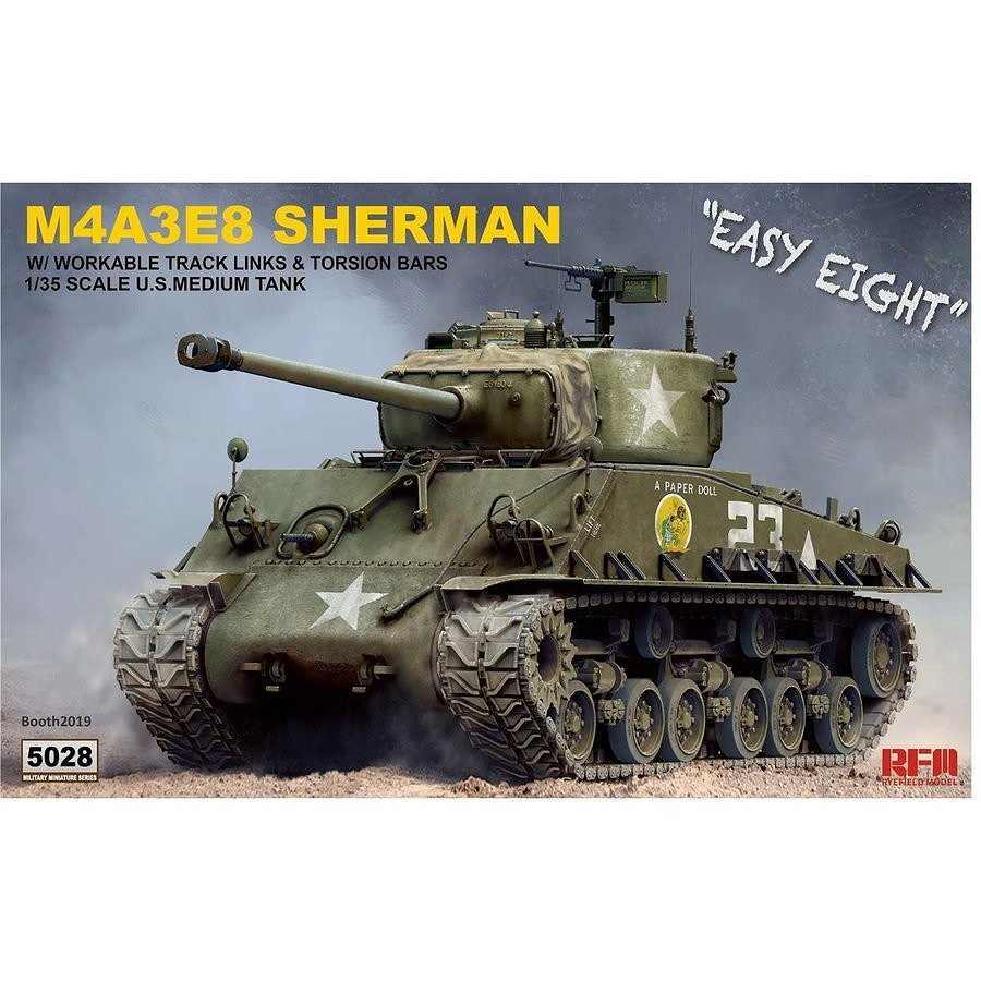 【新製品】5028 M4A3E8 シャーマン中戦車 「イージーエイト」 w/可動式履帯