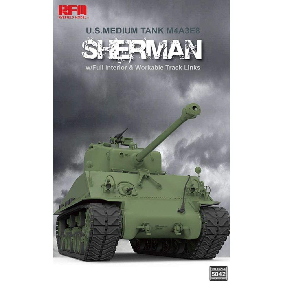 【新製品】5042 M4A3 76W HVSS シャーマン中戦車 w/可動式履帯 &フルインテリア