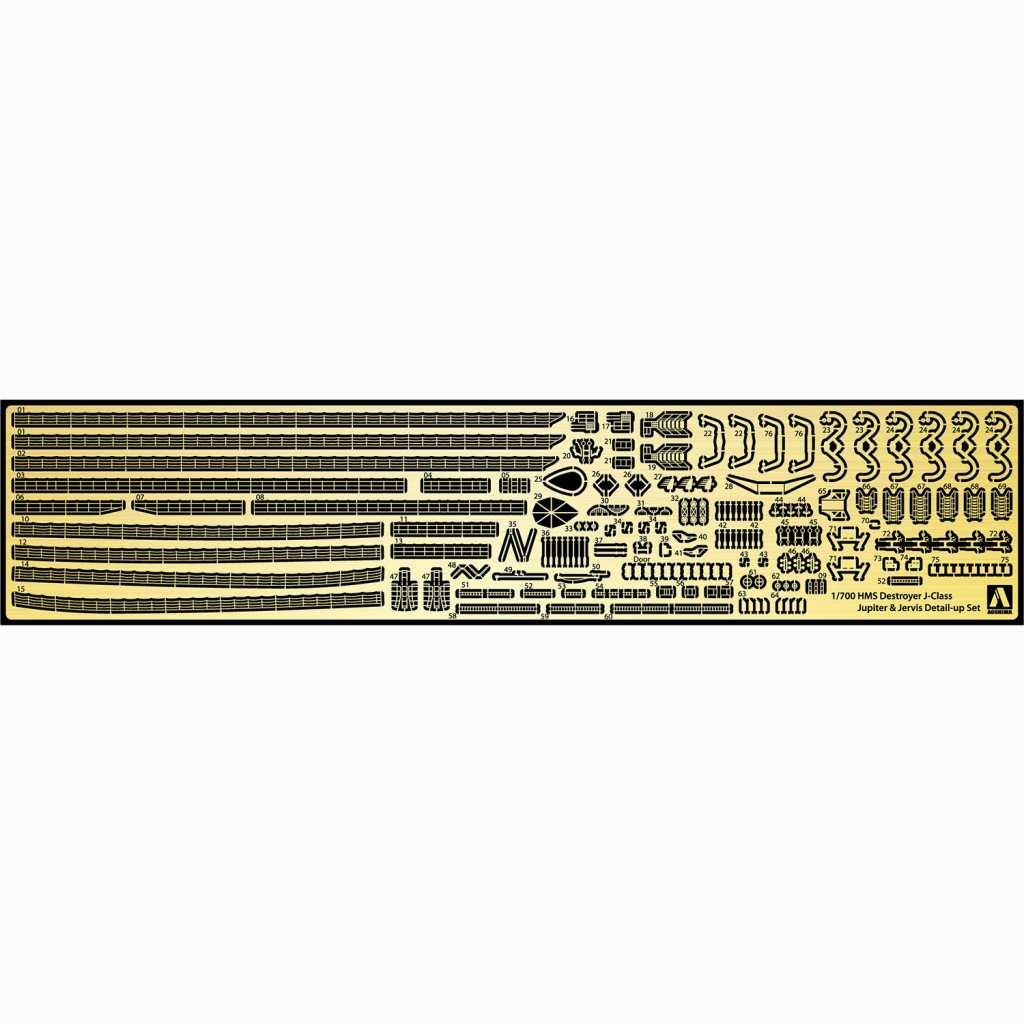 【新製品】057681 英国海軍 駆逐艦専用ディテールアップパーツセット