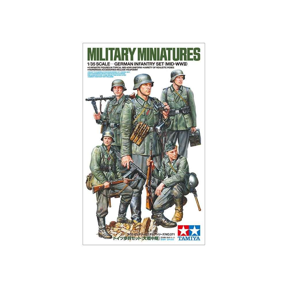 【新製品】35371 ドイツ歩兵セット (大戦中期)