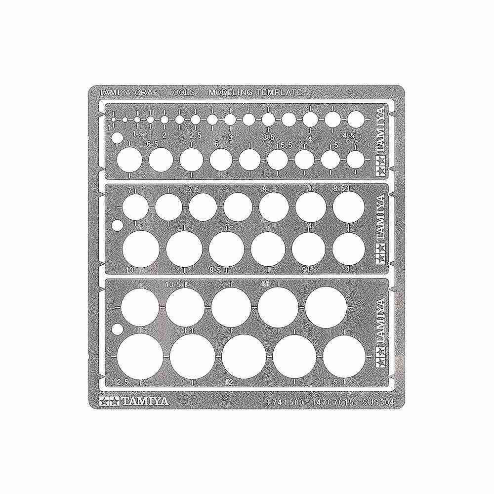 【新製品】74150 モデリングテンプレート(円 1~12.5mm)
