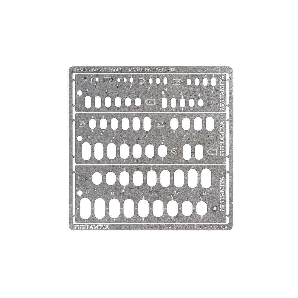 【新製品】74154 モデリングテンプレート (長円 1-6mm)