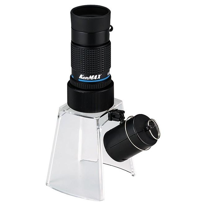 【新製品】KM-412LS ギャラリースコープ ライトスタンド付12倍小型顕微鏡
