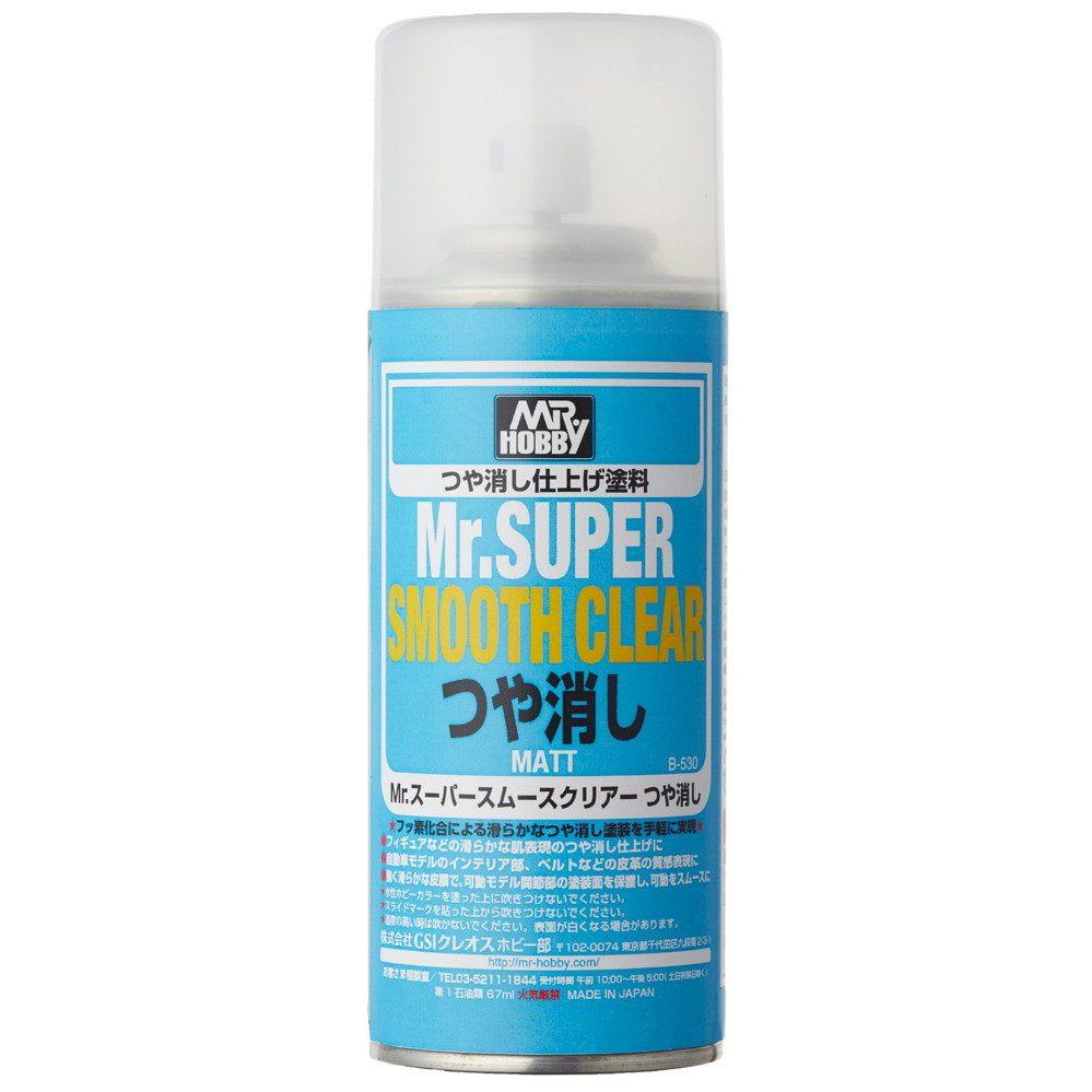 【新製品】B530 Mr.スーパースムースクリアー(溶剤系スプレー) つや消し