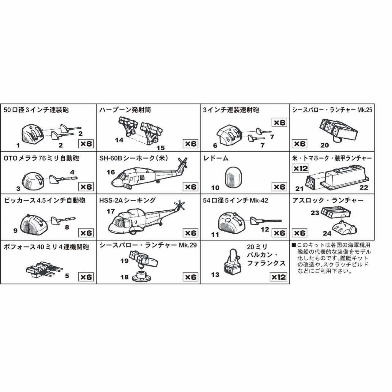 【新製品】SP102 現用艦船装備セット1