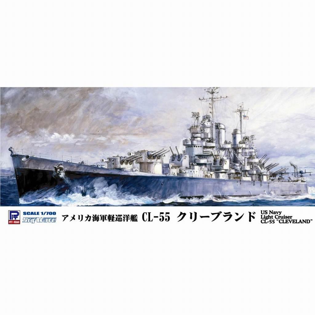 【新製品】W208E アメリカ海軍軽巡洋艦 CL-55 クリーブランド エッチングパーツ付き