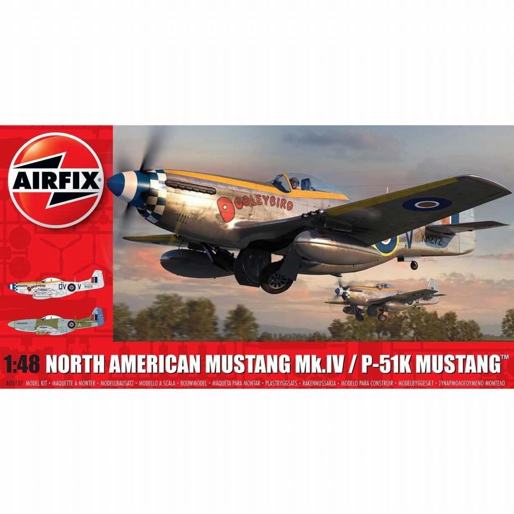 【新製品】A05137 ノースアメリカン マスタング Mk.IV/P-51K マスタング