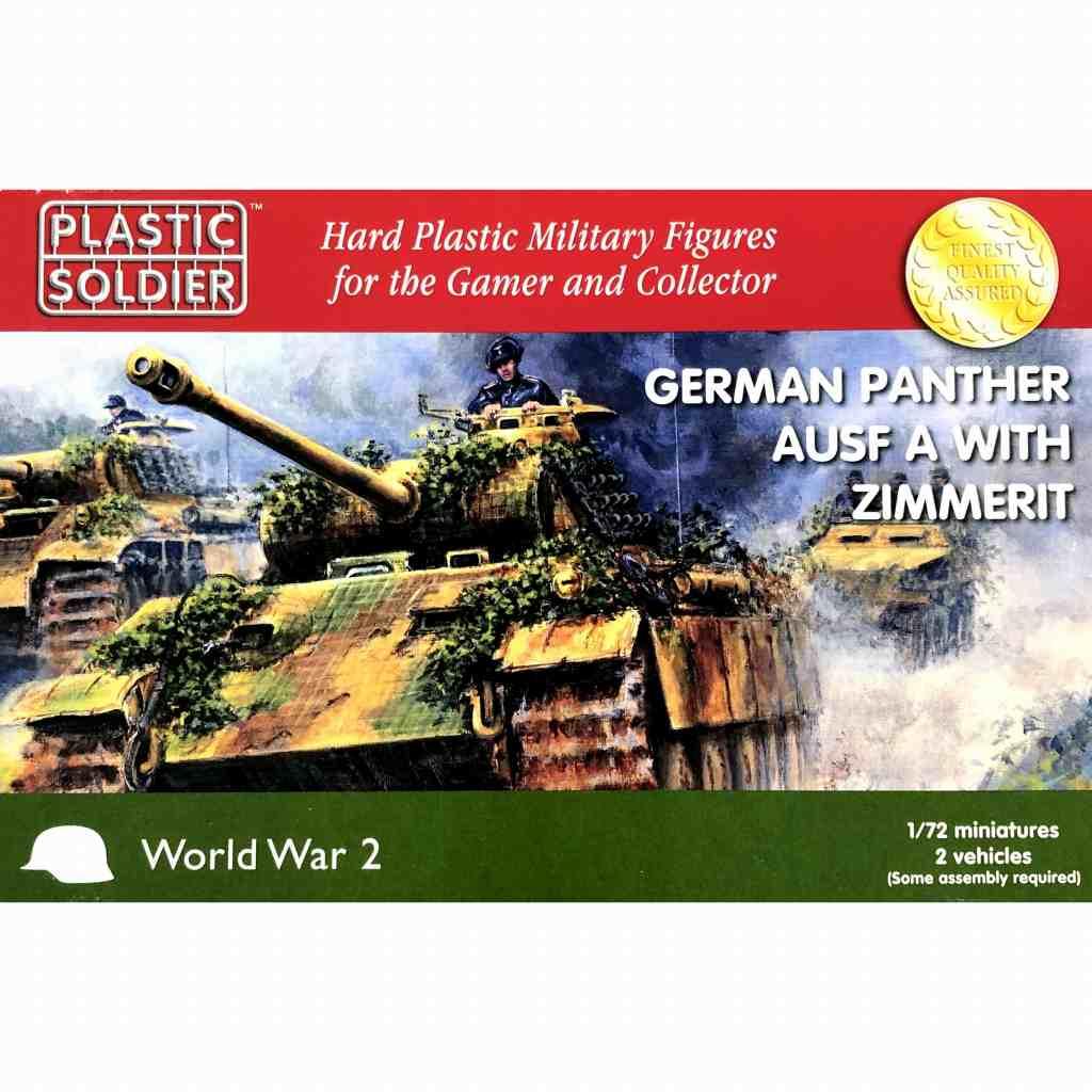 【新製品】WW2V20011 ドイツ軍 パンサーA型w/ツィンメリットコーティング (車両×2 フィギュア×4)