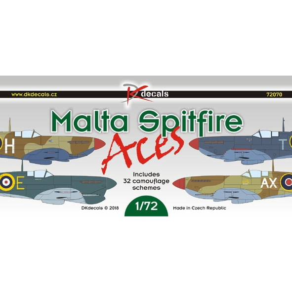【新製品】DKデカール 72070 スーパーマリン スピットファイア マルタ エース