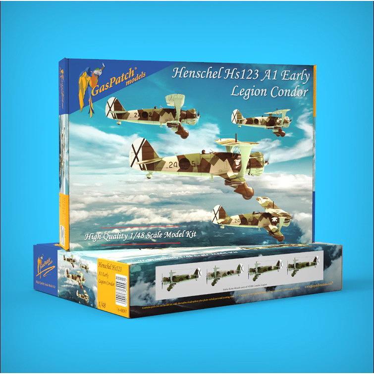 【新製品】16-48097 ヘンシェル Hs123A1 初期型 コンドル軍団