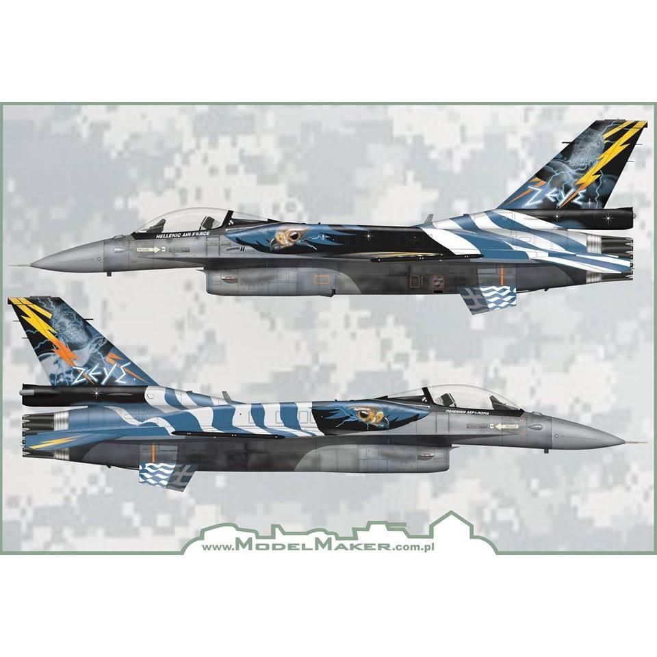 【新製品】ModelMakerDecals 32120 ギリシャ空軍 F-16 デモチーム ゼウス 2015