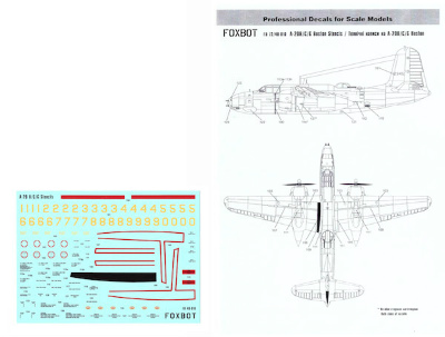 1:48 A-20 B//C//G Boston Stencils 48-010 Foxbot