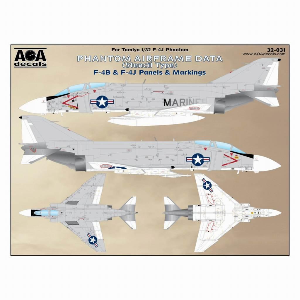 【新製品】AOAデカール 32-031 F-4B/J ファントムII ステンシルデータ