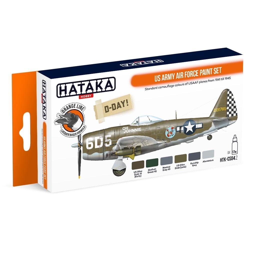 【再入荷】HTK-CS04.2 WWII アメリカ陸軍航空軍 ラッカーカラー6本セット