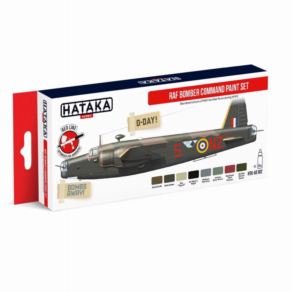 【再入荷】HTK-AS102 WWII イギリス空軍 爆撃機軍団 水性アクリルカラー8本セット