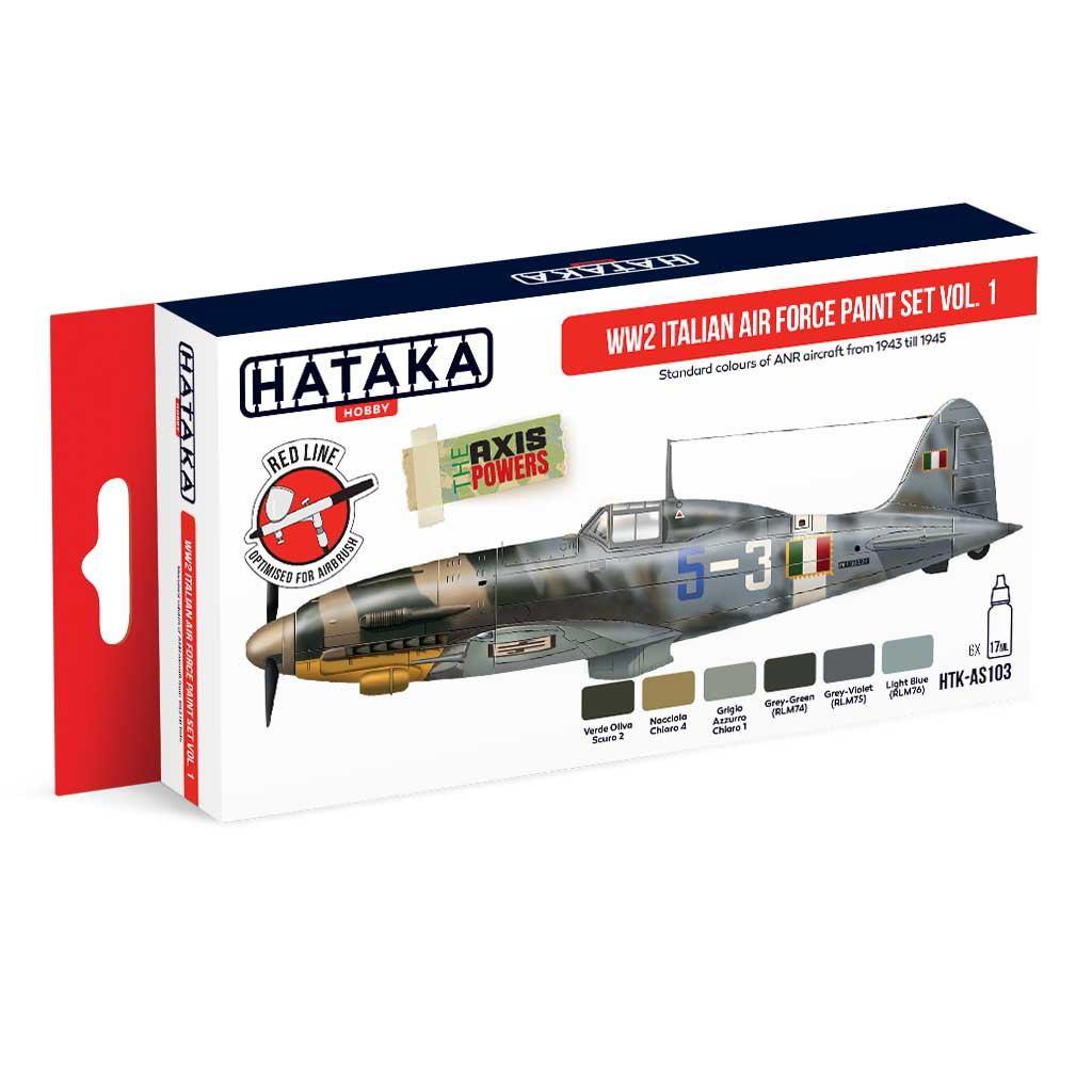 【再入荷】HTK-AS103 WWII イタリア空軍 Vol.1 水性アクリルカラー6本セット