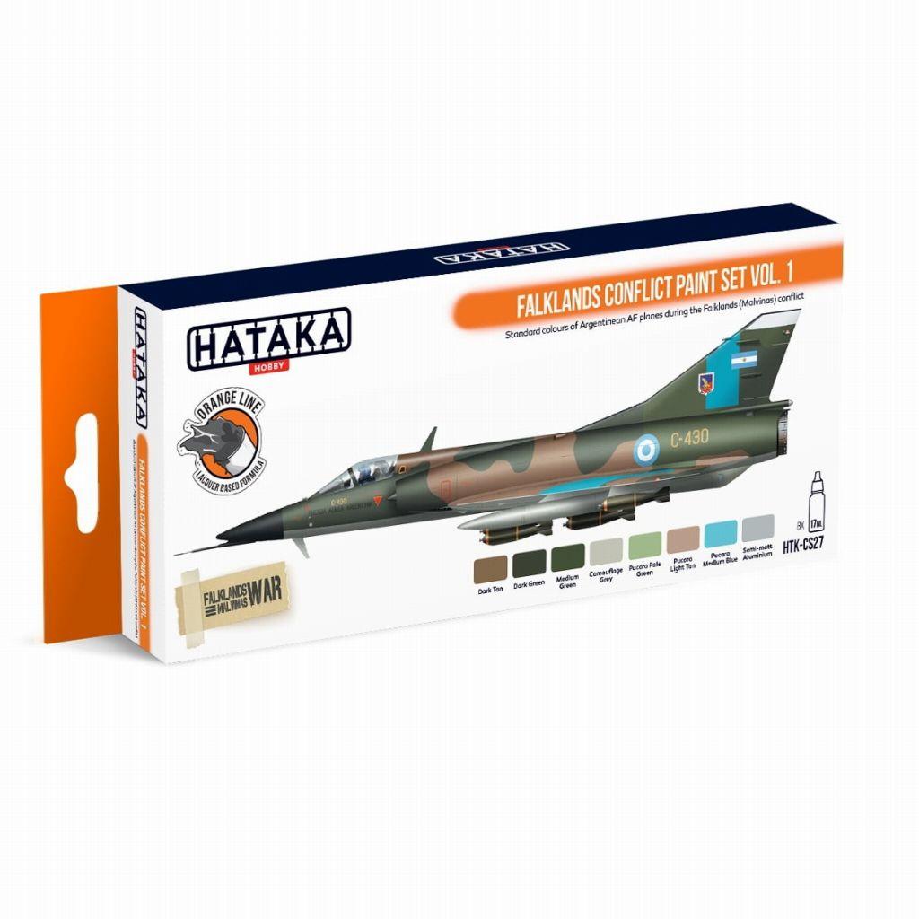 【再入荷】HTK-CS27 フォークランド紛争 Vol.1 アルゼンチン空軍 ラッカーカラー8本セット