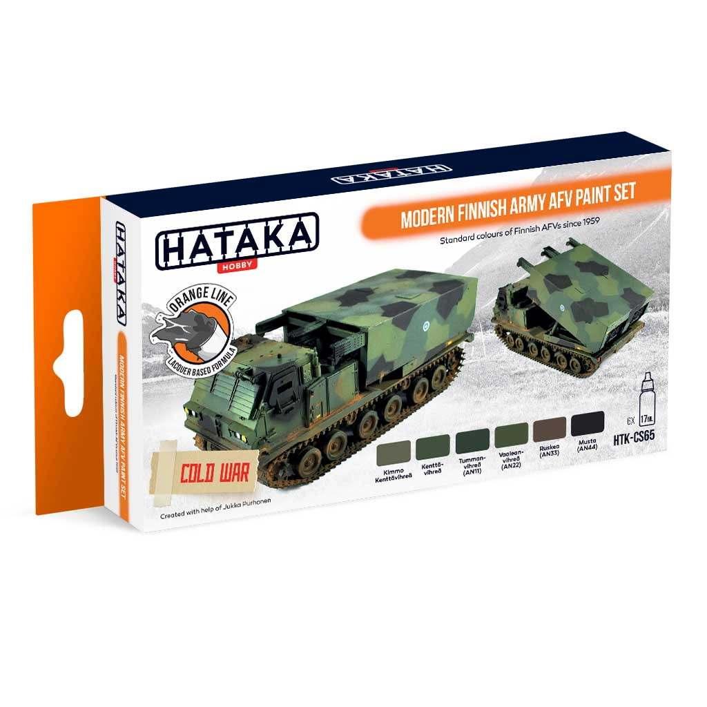 【再入荷】HTK-CS65 現用 フィンランド陸軍 ラッカーカラー6本セット