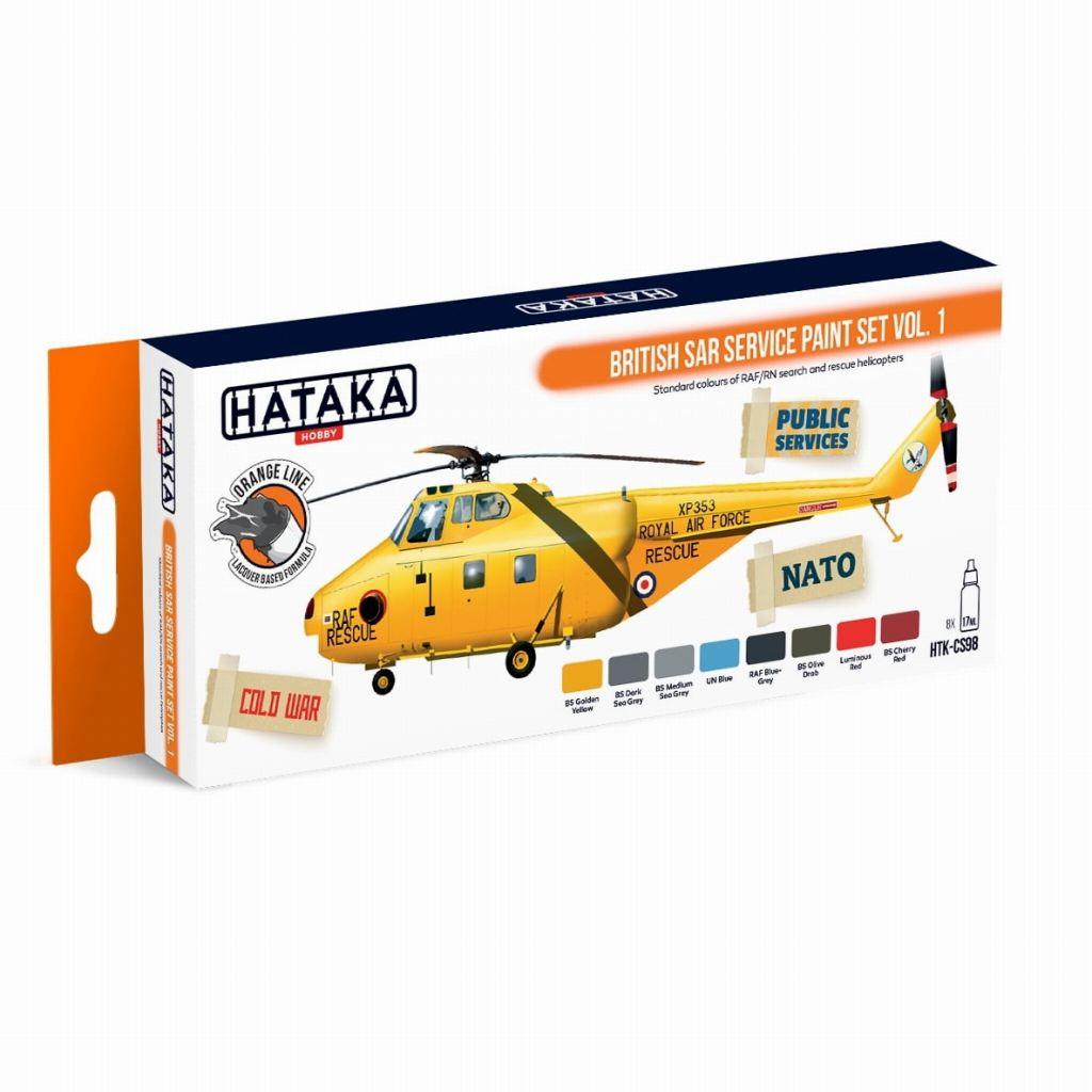 【再入荷】HTK-CS98 イギリス 捜索救難(SAR) ヘリコプター ラッカーカラー8本セット