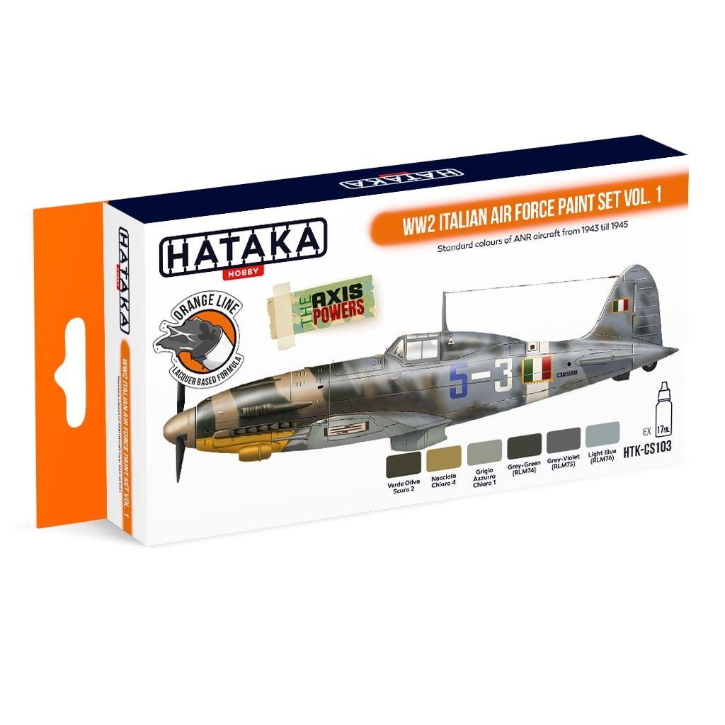 【再入荷】HTK-CS103 WWII イタリア空軍 Vol.1 ラッカーカラー6本セット