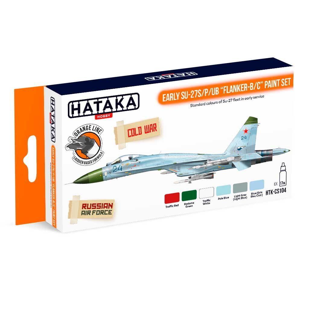 【再入荷】HTK-CS104 スホーイ Su-27S/P/UB フランカーB/C 初期型 ラッカーカラー6本セット