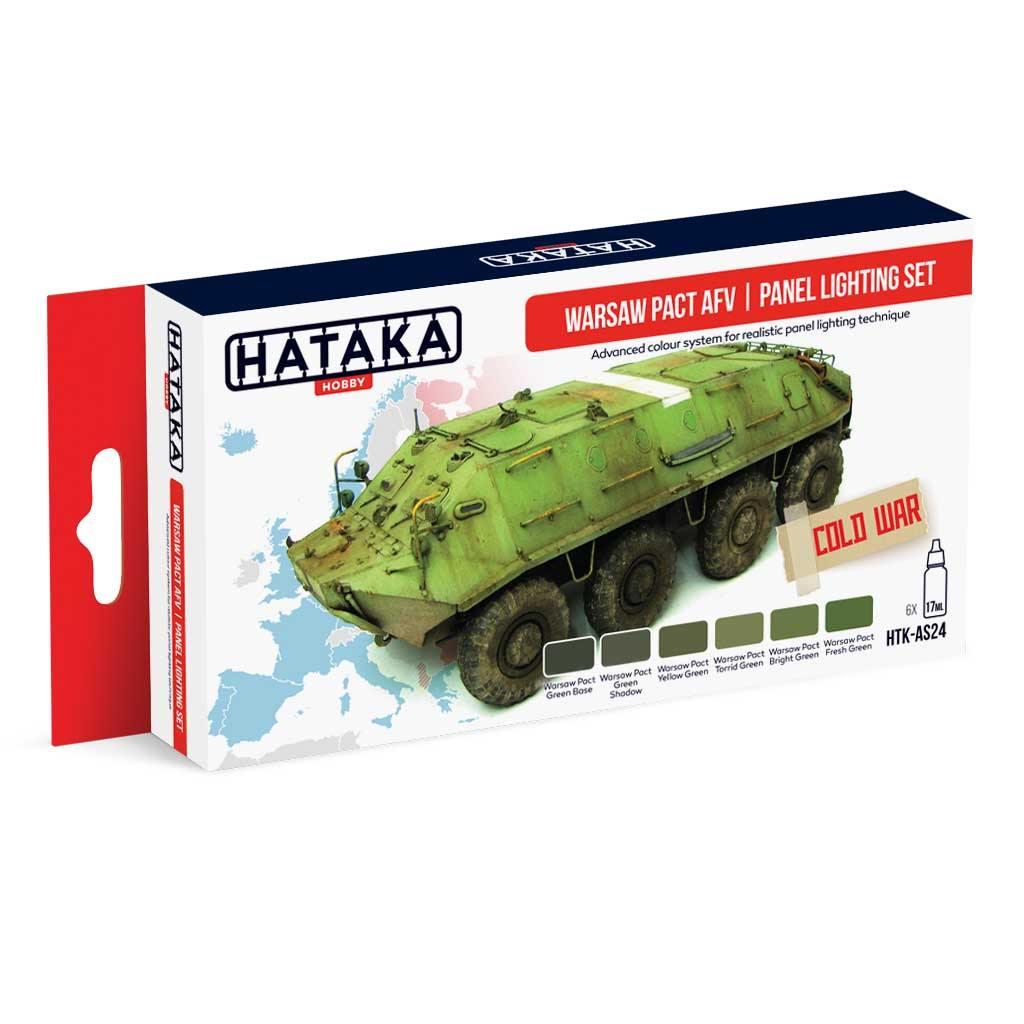 【再入荷】HTK-AS24 ワルシャワ条約機構加盟国車輛カラーモジュレーション 水性アクリルカラー6本セット
