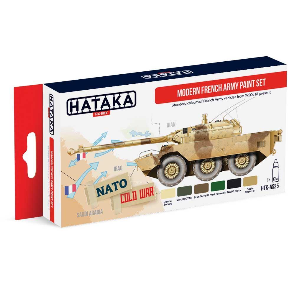 【再入荷】HTK-AS25 現用 フランス陸軍 水性アクリルカラー6本セット