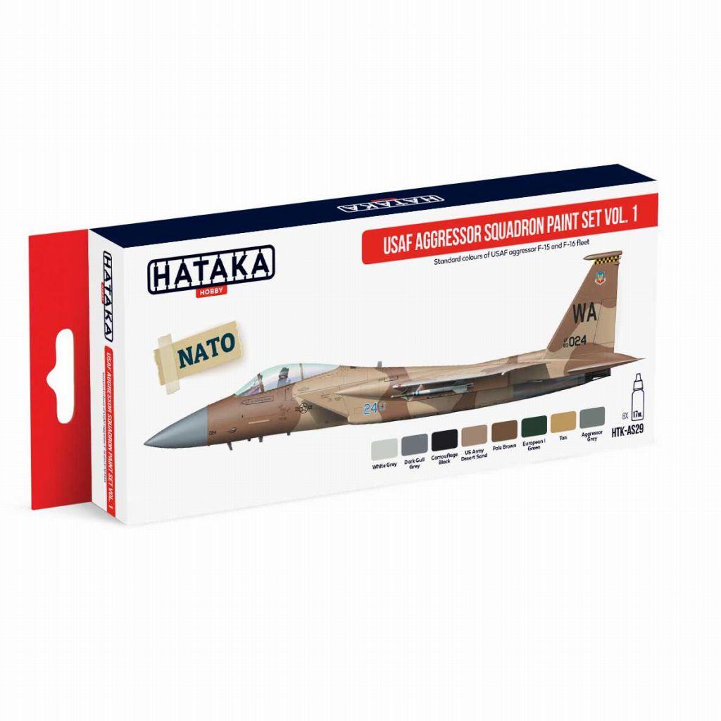 【再入荷】HTK-AS29 現用 アメリカ空軍 アグレッサー Vol.1 水性アクリルカラー8本セット