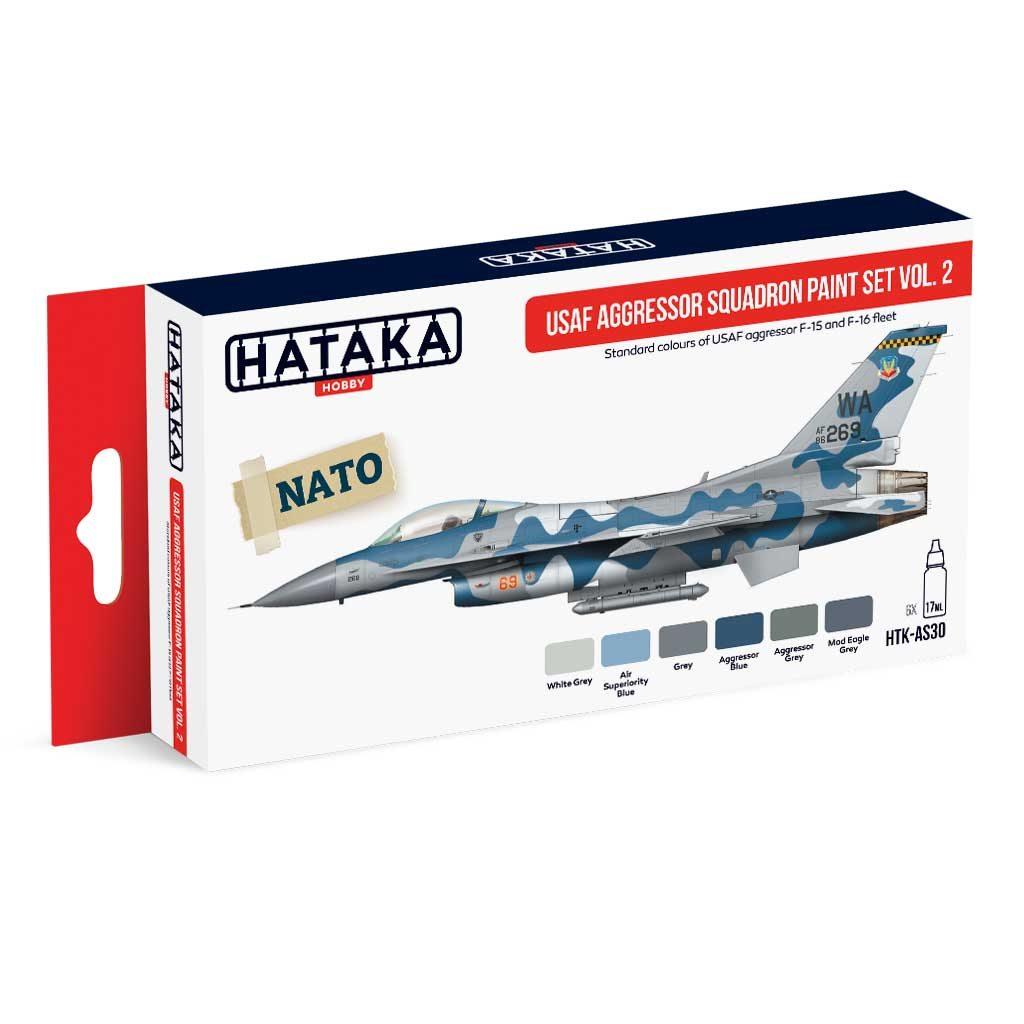 【再入荷】HTK-AS30 現用 アメリカ空軍 アグレッサー Vol.2 水性アクリルカラー6本セット