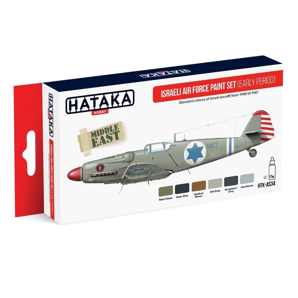 【再入荷】HTK-AS34 イスラエル空軍 初期 水性アクリルカラー6本セット