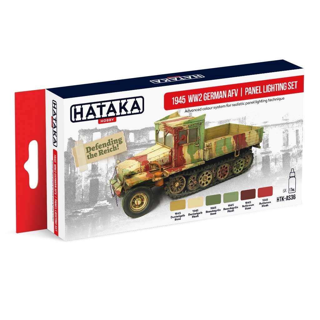 【再入荷】HTK-AS36 WWII ドイツ陸軍車輛 1945 カラーモジュレーション 水性アクリルカラー6本セット