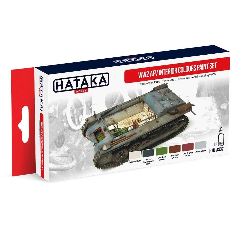 【再入荷】HTK-AS37 WWII ドイツ陸軍内装色 水性アクリルカラー6本セット