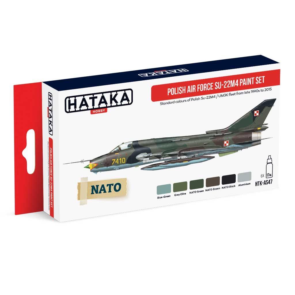 【再入荷】HTK-AS47)ポーランド空軍 スホーイ Su-22M4 フィッター 水性アクリルカラー6本セット