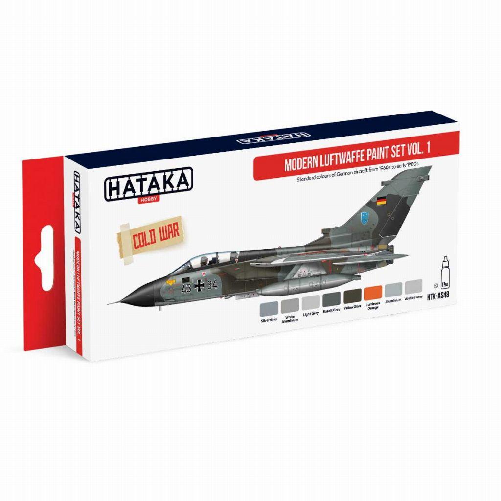 【新製品】HTK-AS48 現用 ドイツ空軍 Vol.1 水性アクリルカラー8本セット