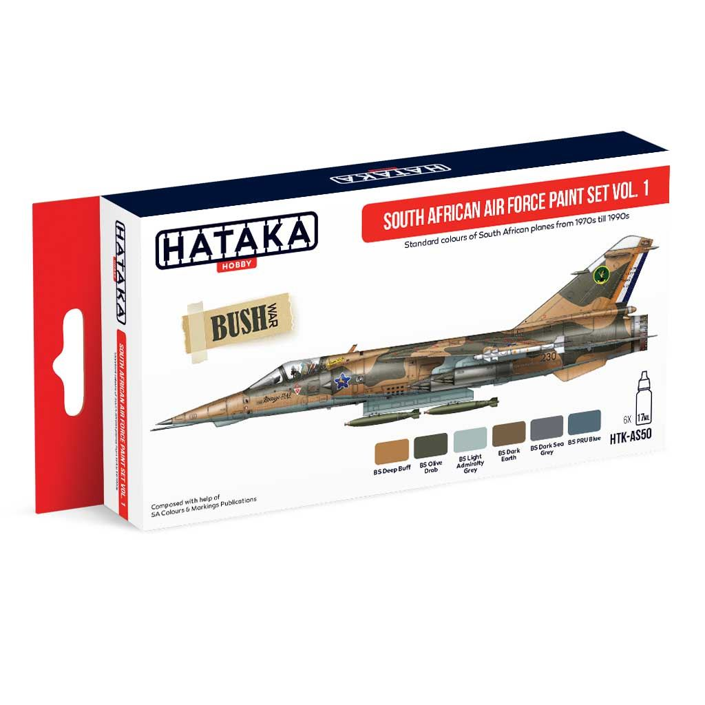 【再入荷】HTK-AS50 南アフリカ空軍 Vol.1 1970-1990年代 水性アクリルカラー6本セット