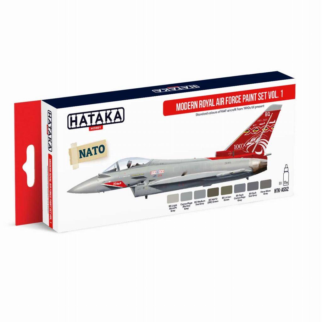 【再入荷】HTK-AS52 現用 イギリス空軍 Vol.1 水性アクリルカラー8本セット