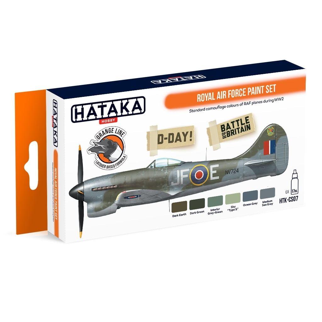 【再入荷】HTK-CS07 WWII イギリス空軍 ラッカーカラー6本セット