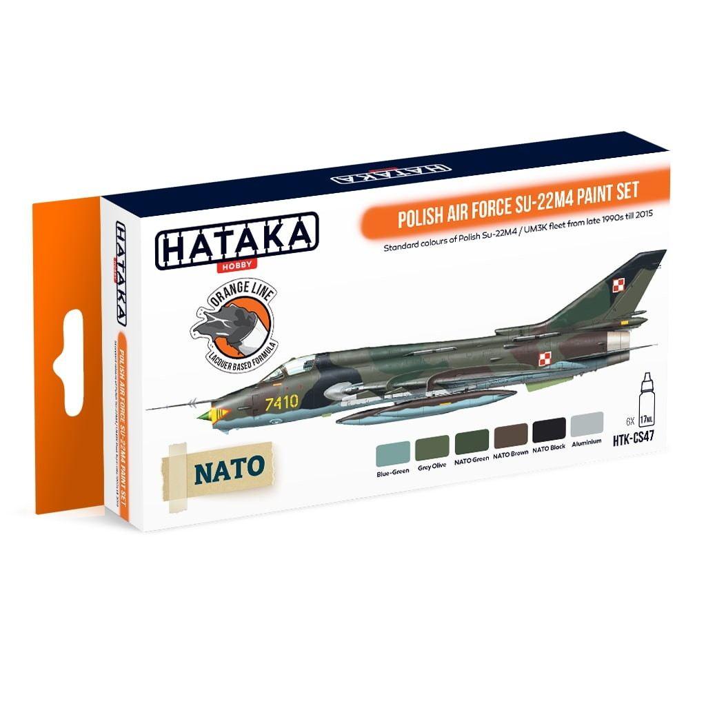 【再入荷】HTK-CS47)ポーランド空軍 スホーイ Su-22M4 フィッター ラッカーカラー6本セット