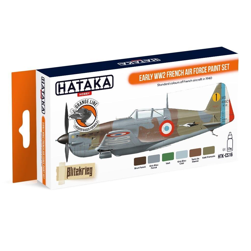 【再入荷】HTK-CS16 WWII フランス空軍 初期 ラッカーカラー6本セット