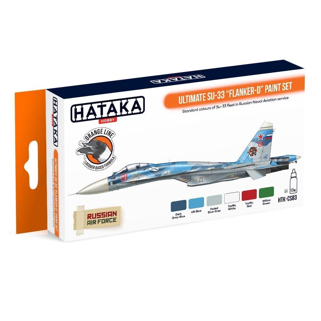 【再入荷】HTK-CS83 スホーイ Su-33 フランカーD アルティメット ラッカーカラー6本セット