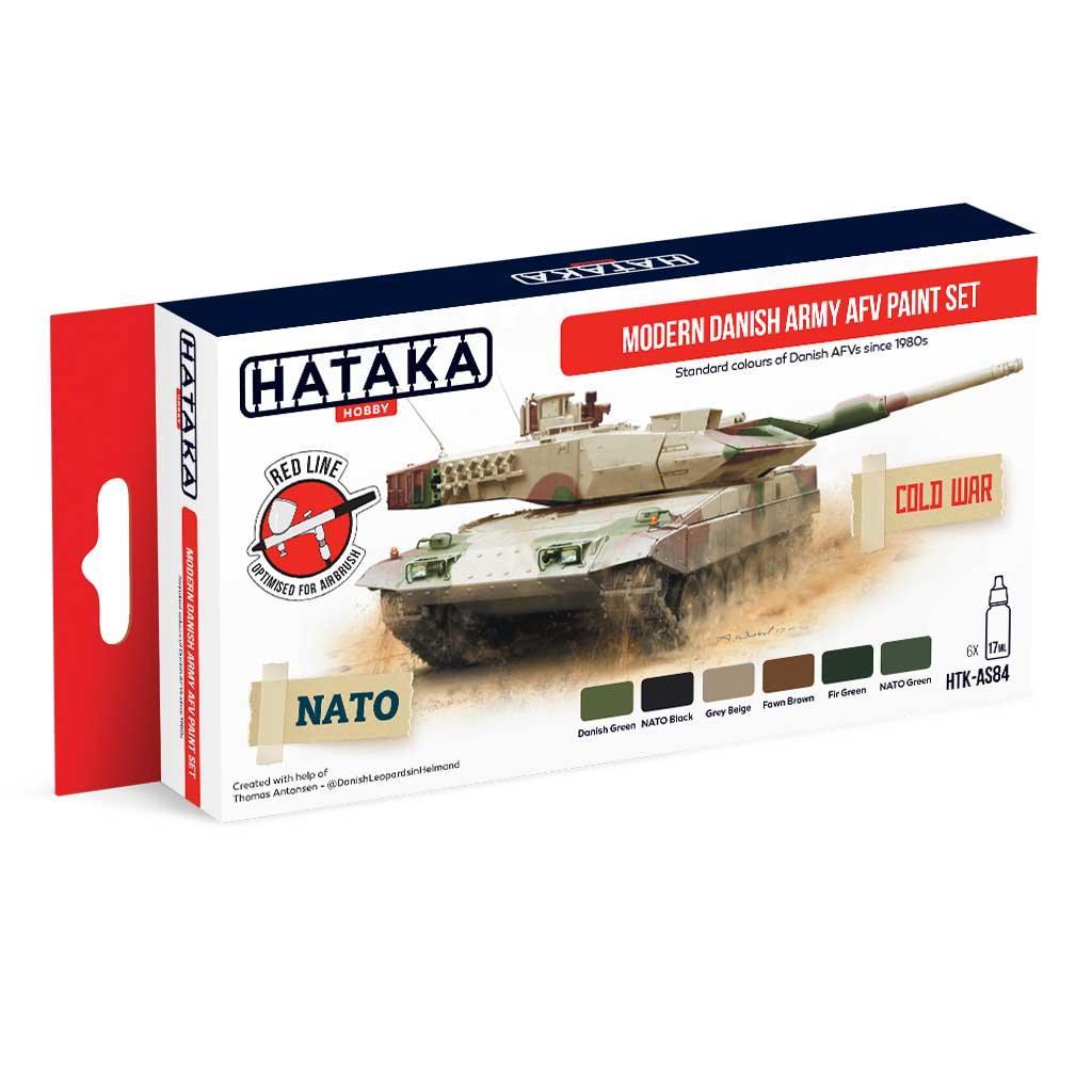 【再入荷】HTK-AS84 現用 デンマーク陸軍 水性アクリルカラー6本セット
