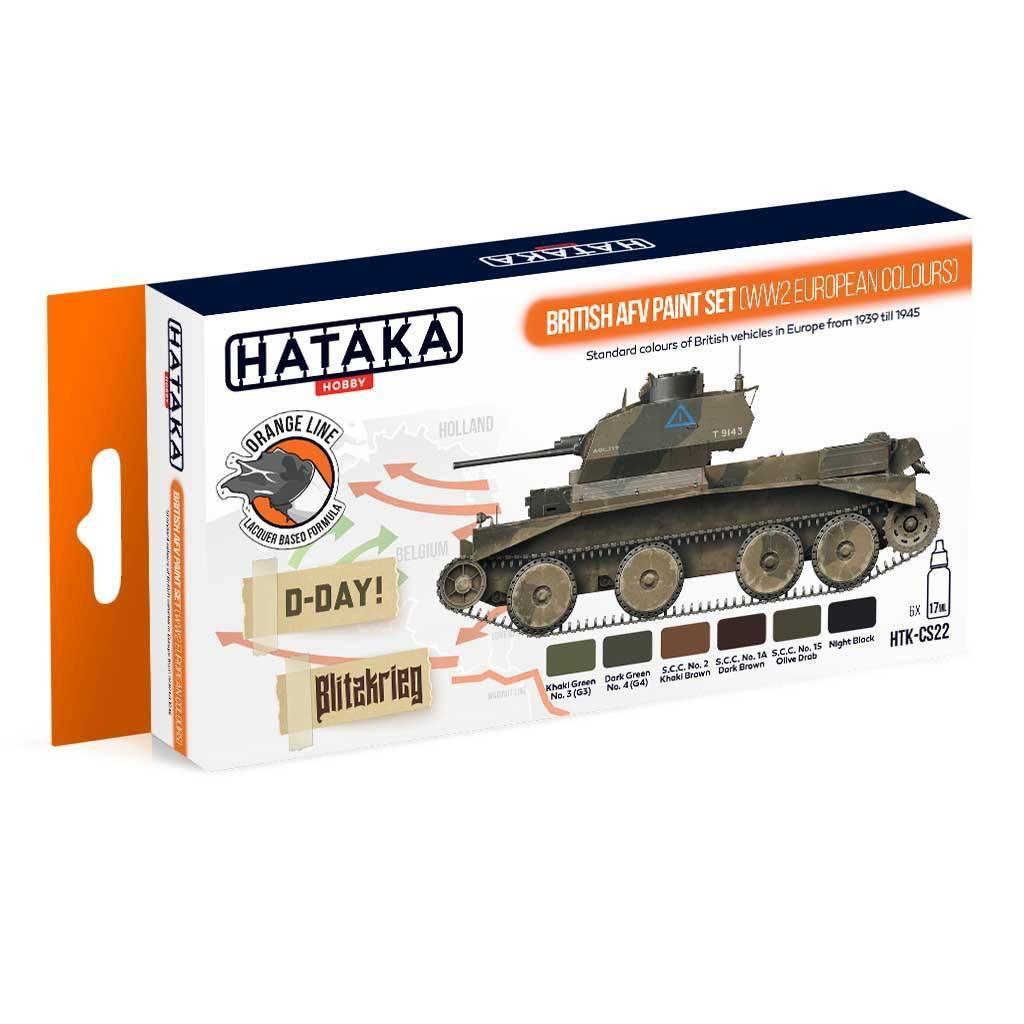 【再入荷】HTK-CS22 WWII イギリス陸軍ヨーロッパ戦線 ラッカーカラー6本セット