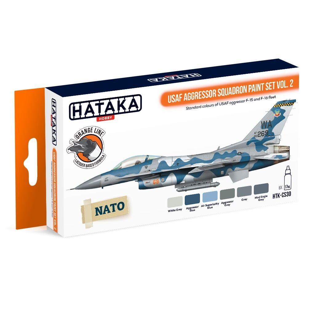 【再入荷】HTK-CS30 現用 アメリカ空軍 アグレッサー Vol.2 ラッカーカラー6本セット